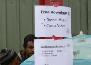 The free download of Jesus video and language resources was a major attraction